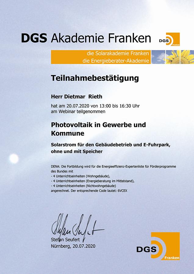 Teilnahmebestaetigung-Photovoltaik in Gewerbe und Kommune